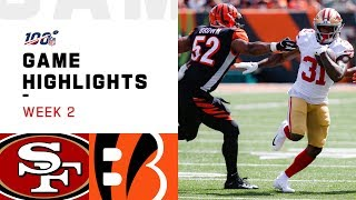 49ers vs. Bengals Week 2 Highlights | NFL 2019