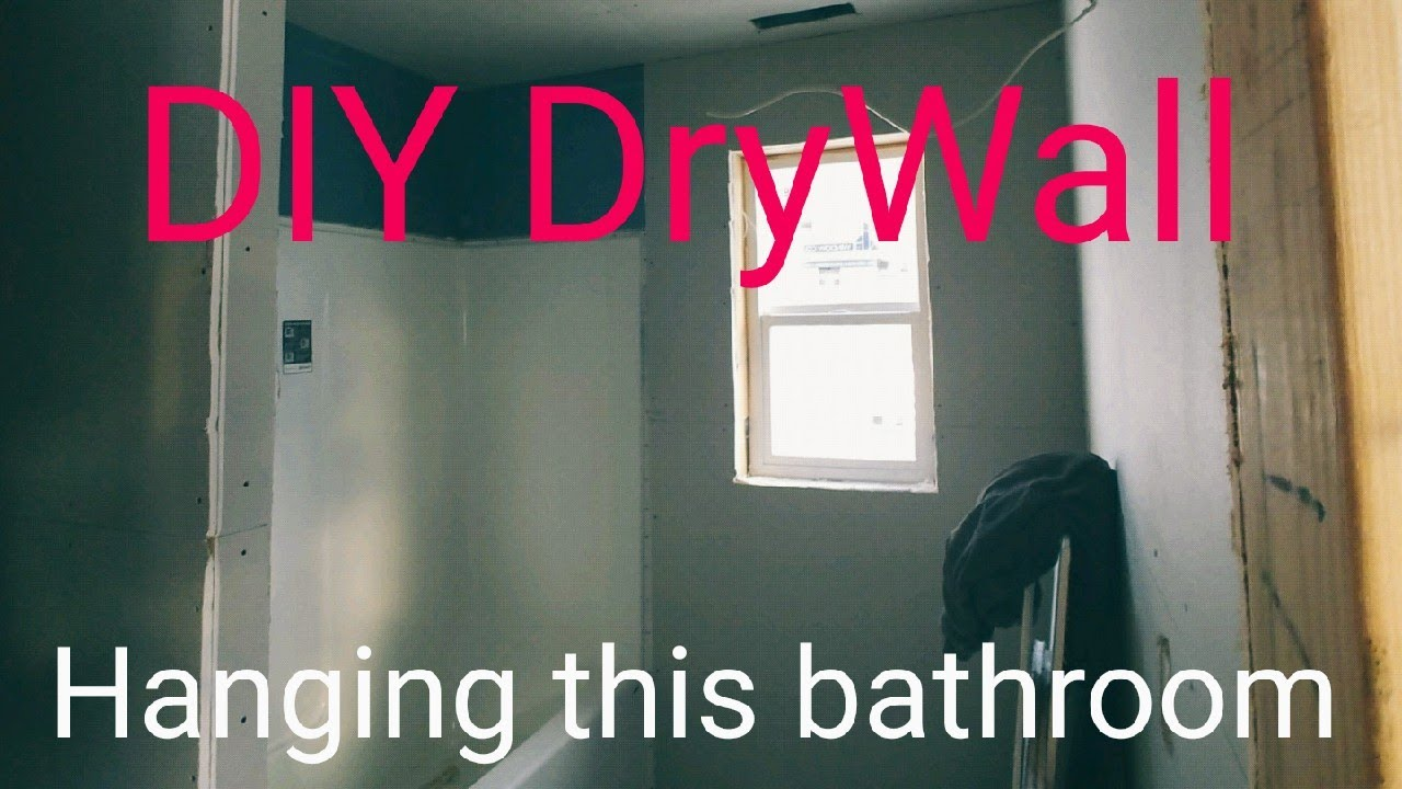 How To Hang Drywall Bathroom Edition Mold Resistant For Bathtubs