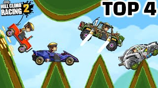 TOP 4 BEST CARS on FALLING DOWN EVENT - HILL CLIMB RACING 2