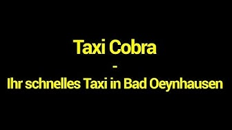 Taxi Cobra - Ihr schnelles Taxi in Bad Oeynhausen