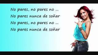 RBD - No Pares (Lyrics)