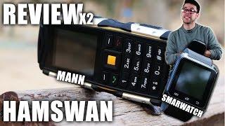 HAMSWAN MANN El teléfono móvil más resistente del mundo y smartwatch más barato | Review en Español