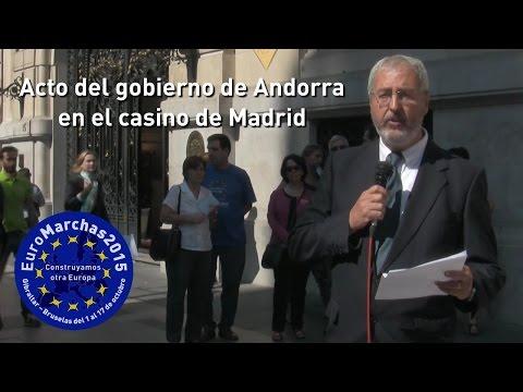 Euro Marchas 2015. Acto del gobierno de Andorra en el casino de Madrid