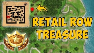 RETAIL ROW TREASURE MAP in Fortnite! (Fortnite Battle Pass Challenge)