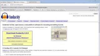 Видеокурс «Audacity - Программа для записи и редактирования аудио», урок 2 «Как установить»