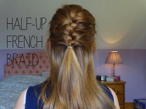 HAIR TUTORIAL   Half Up French Braid!   Simply Redhead ...