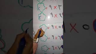 تغلم جدول الضرب ل 9 بثلاثين  ثانية Learn the multiplication table for the number 9 in thirty seconds