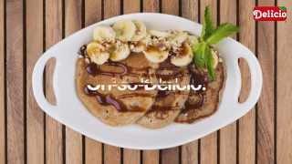 فطائر الحبوب الكاملة والموز Whole-grain & Banana Pancakes