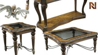 Fairmont Empire Sofa Table And Square End Table
