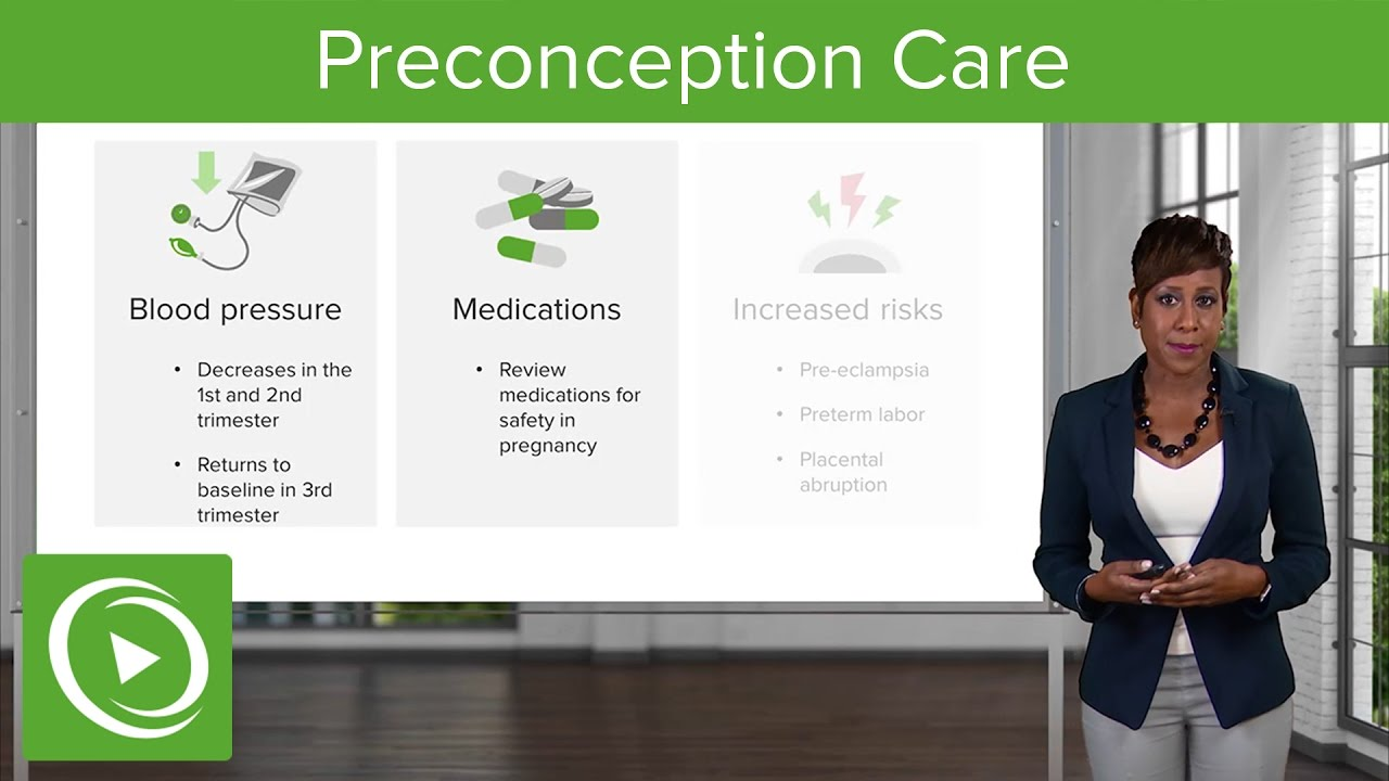 Preconception Care: Common Medical Problems – Obstetrics | Lecturio