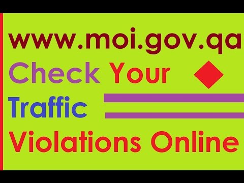 Moi.gov.qa Check Traffic Violation Fines