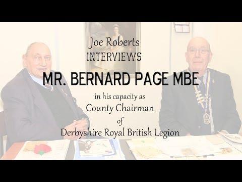 Joe Roberts Interviews Mr. Bernard Page MBE