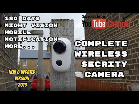security-camera-wireless-battery-powered-system-best-for-outdoor-/-indoors:-review-/-setup-/-demo