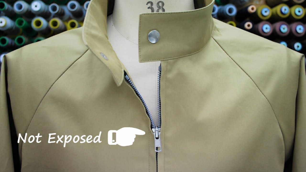 How to sew a Separating Zipper (not exposed) of a Raglan Sleeve Jacket