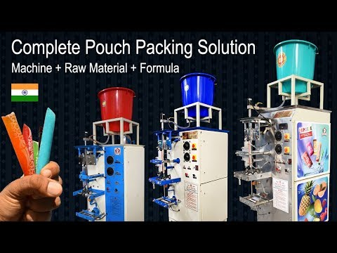 High quality Pouch Packing Machine (FFS) and complete formula no. 8822686868 (2 महीने मे मशीन मुफ्त)
