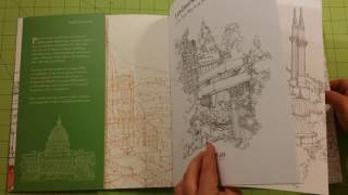The Landmarks of the world by abi daker adult coloring book review flip through