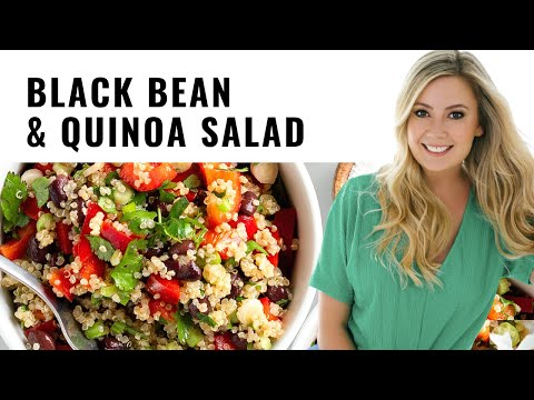 Black Bean & Quinoa Salad (Elizabeth Eats TV)