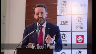 India 5000 Awards Ceremony 2018  | Guest of Honour Mr.Geoff Wain Speech