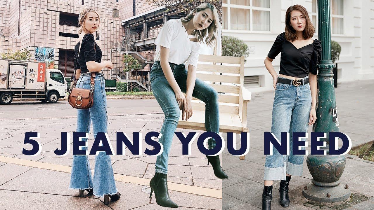CHỌN QUẦN JEANS PHÙ HỢP DÁNG NGƯỜI   Những dáng quần jeans cơ bản nhất   STYLING   From Sue