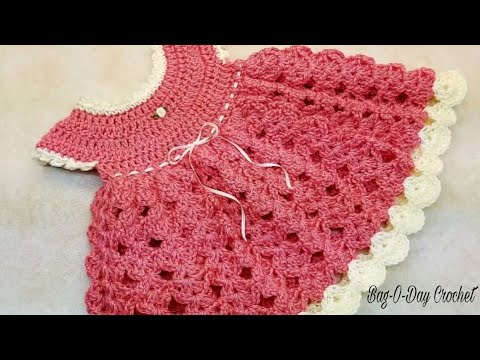 Learn How To Crochet Strawberry Shortcake Baby Dress