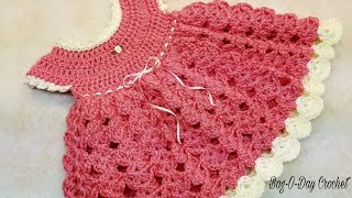 Learn How To Crochet Strawberry Shortcake Baby Dress 0-6 months TUTORIAL #375