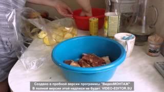 Свиные рёбрышки с картошкой в рукаве