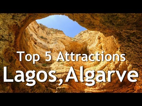 LAGOS ALGARVE PORTUGAL Cliffs, Caves, Beaches & Boat tour (4k)