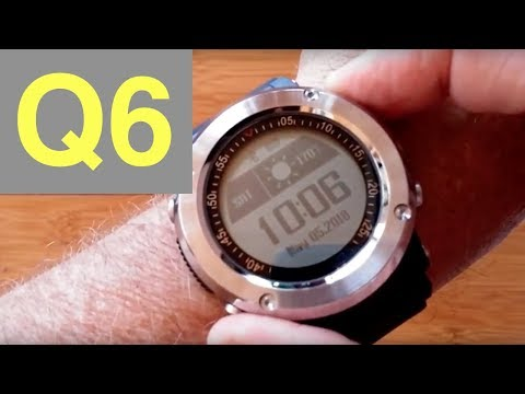 Newwear Q6 1 inch display GPS Fitness Tracker Smartwatch: Unboxing & Review