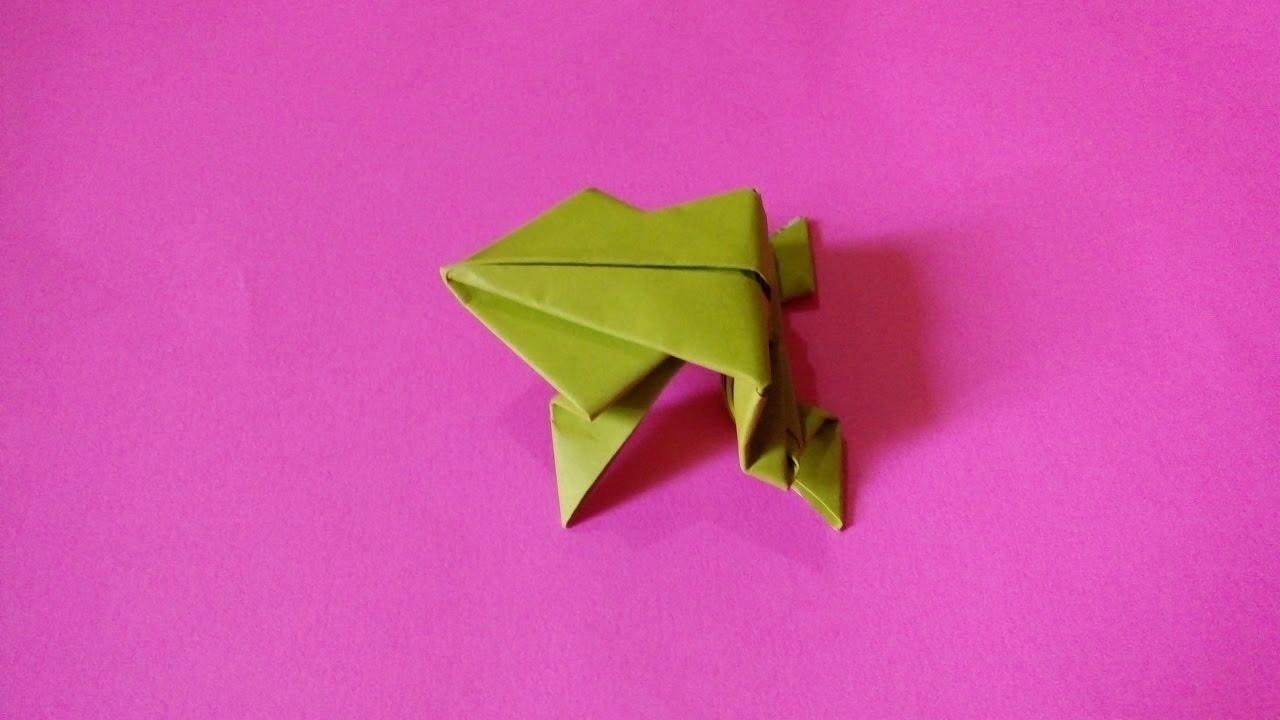 membuat origrami katak frog youtube