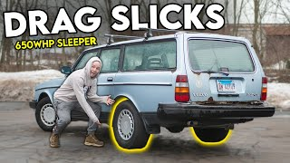 My 650WHP Volvo Sleeper Gets DRAG SLICKS (roadtrip prep!)