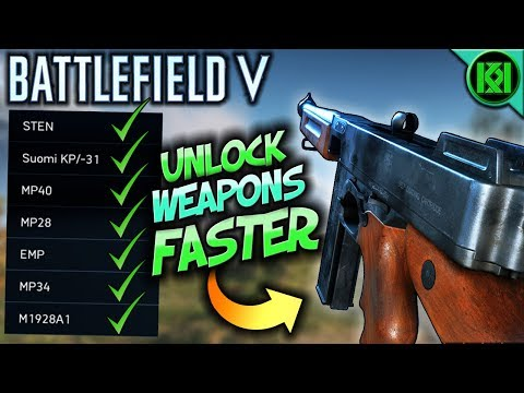 Battlefield 5: How to Unlock Guns FASTER + Rank up QUICKER | BF5 Weapons +  Battlefield V Gameplay