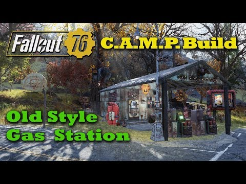 Fallout 76 C.A.M.P. Build - Old Style Gas Station - New Player Vendors