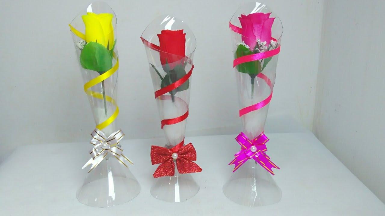 Muito Vaso de garrafa pet - Use como lembrancinha, decoração. Reciclagem  EE43