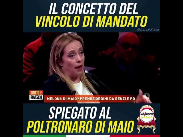 Giorgia Meloni: Io sempre coerente, Di Maio è solo un poltronaro