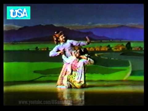 """Shwe Mum Tha Bin"" Burmese Traditional Dancers Group on Myanmar TV 1987"