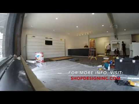 Retail Store Fixtures Time-lapse using Modular Wall Systems