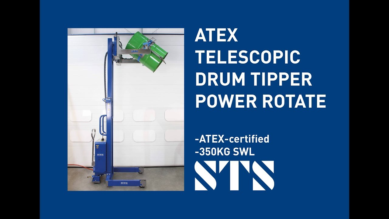 ATEX Telescopic Drum Tipper w/Power Rotate