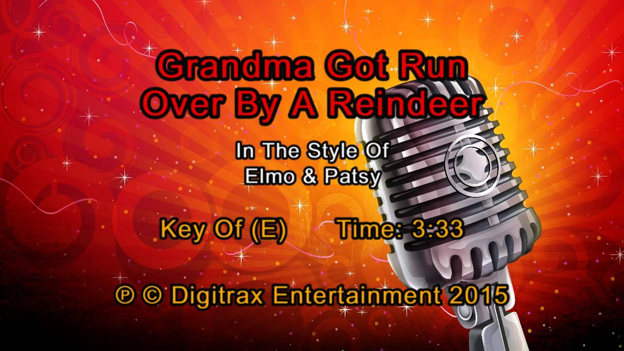 elmo patsy grandma got run over by a reindeer backing track