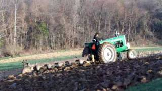 oliver 1950 plowing