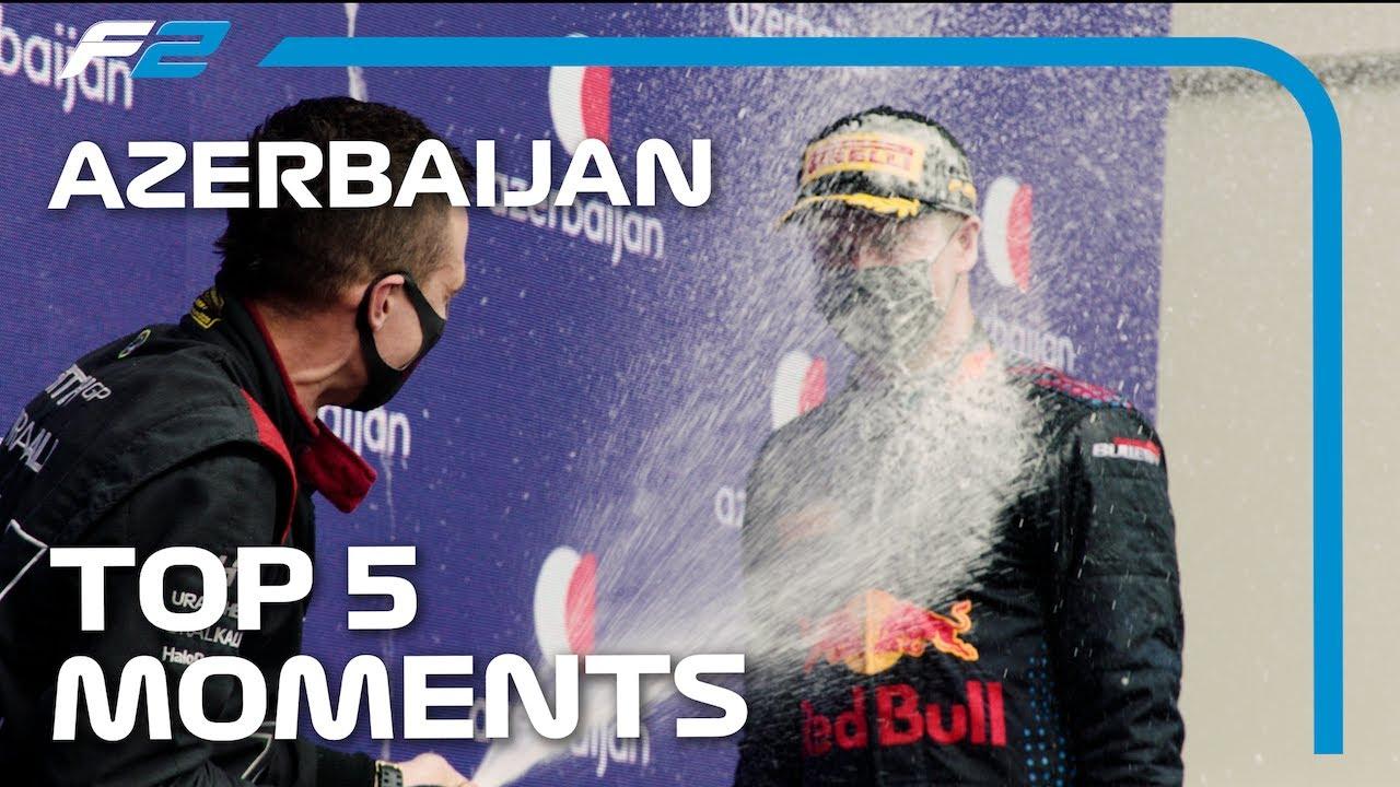 Les 5 meilleurs moments de Formule 2    Grand Prix d'Azerbaïdjan 2021