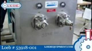 scraped surface heat exchanger apv crepaco model 2hd602 loeb 53918 001