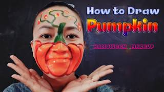 How To Draw A Pumpkin    Halloween Makeup