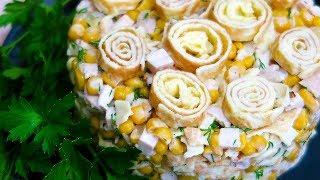 Салат с блинчиками Загадка на Новогодний стол