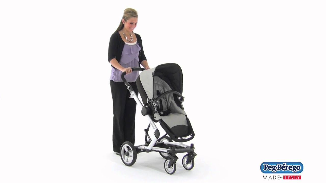 2011 Stroller System Peg Perego Skate System How to Lock Wheels in Place and Use Brake
