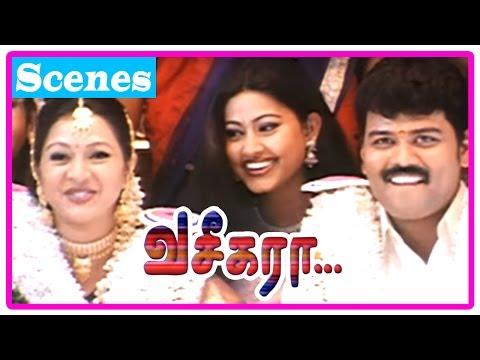Vaseegara Tamil Movie   Scenes   Gayatri and Sriman get married   Vijay tricks Sneha