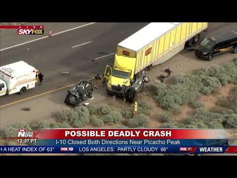 FOUR DEAD, FOUR INJURED: Crash Cripples I-10 Near Picacho Peak (FNN)