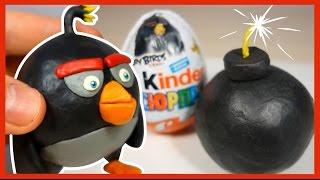 Как слепить Бомба из пластилина. Bomb. Энгри Бердз (Angry Birds Movie) of plasticine.