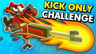 POWER KICK IN THE NEW KICK ONLY CHALLENGE! (Clone Drone in the Danger Zone Funny Gameplay)