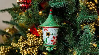 Keepsake Ornament Giveaway - Poinsettia Beautiful Birdhouse - Home & Family