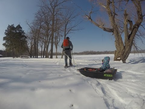 Jet Sled Jr Modifications as a Snowshoeing Pulk